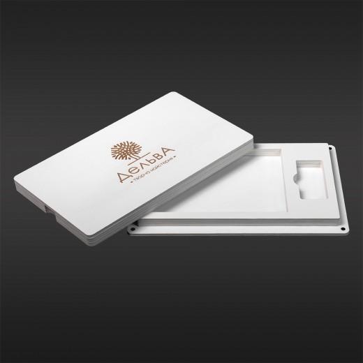 Футляр для фото з відділенням для флешки модель 1 фото 10х15 білий