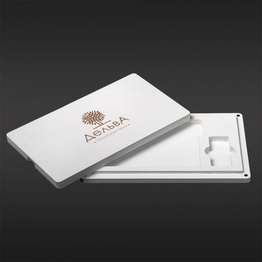 Футляр для фото з відділенням для флеш-пам'яті модель 3 фото 10х15 білий