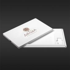 Футляр для фото з відділенням для флеш-пам'яті модель 3 фото 15х21 білий