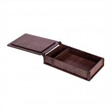 Коробка для фото з відділенням для флеш-пам'яті модель 2 фото 10х15 палісандр