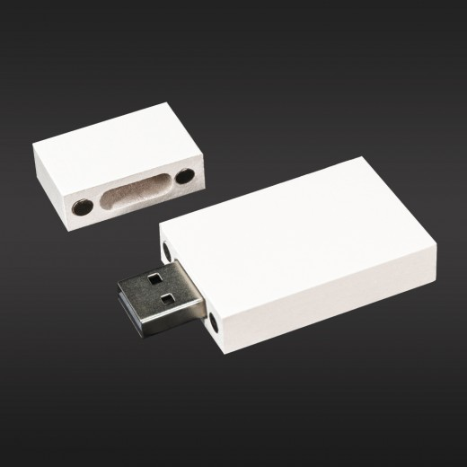 Флеш-пам'ять модель 3 USB 2.0 16 Гб білий